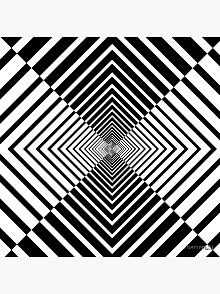 Rhombus, Squares, Op art, short for optical art, is a style of visual art that uses optical illusions by znamenski