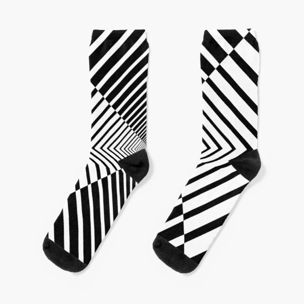Rhombus, Squares, Op art, short for optical art, is a style of visual art that uses optical illusions Socks