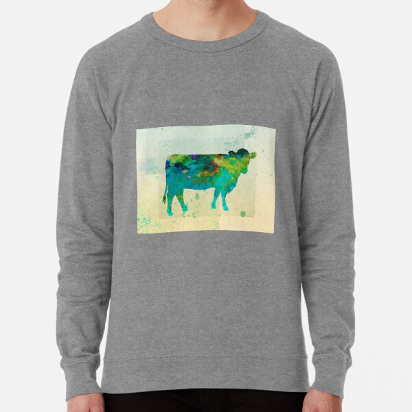 The Painted Cow - cow art Lightweight Sweatshirt