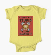 I Can't Fix Stupid BUT I Can Diagnose It RED V2 One Piece - Short Sleeve
