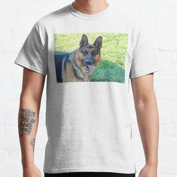 German Shepherd Dog With Tongue Out Classic T-Shirt
