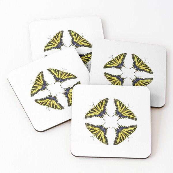Swallowtail Butterflies   Coasters (Set of 4)
