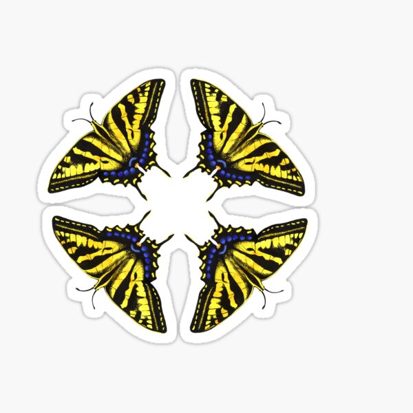 Swallowtail Butterflies   Sticker
