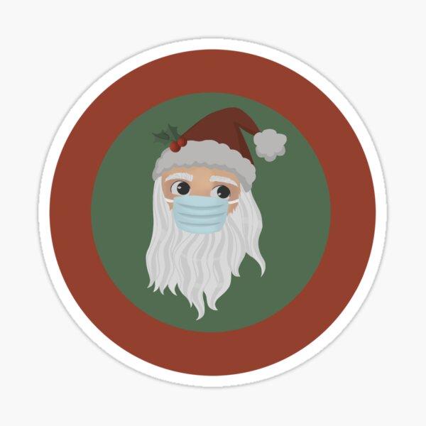 Santa with a Mask  Sticker