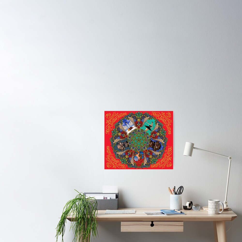 My Beautiful Dark Twisted Fantasy Mandala Poster