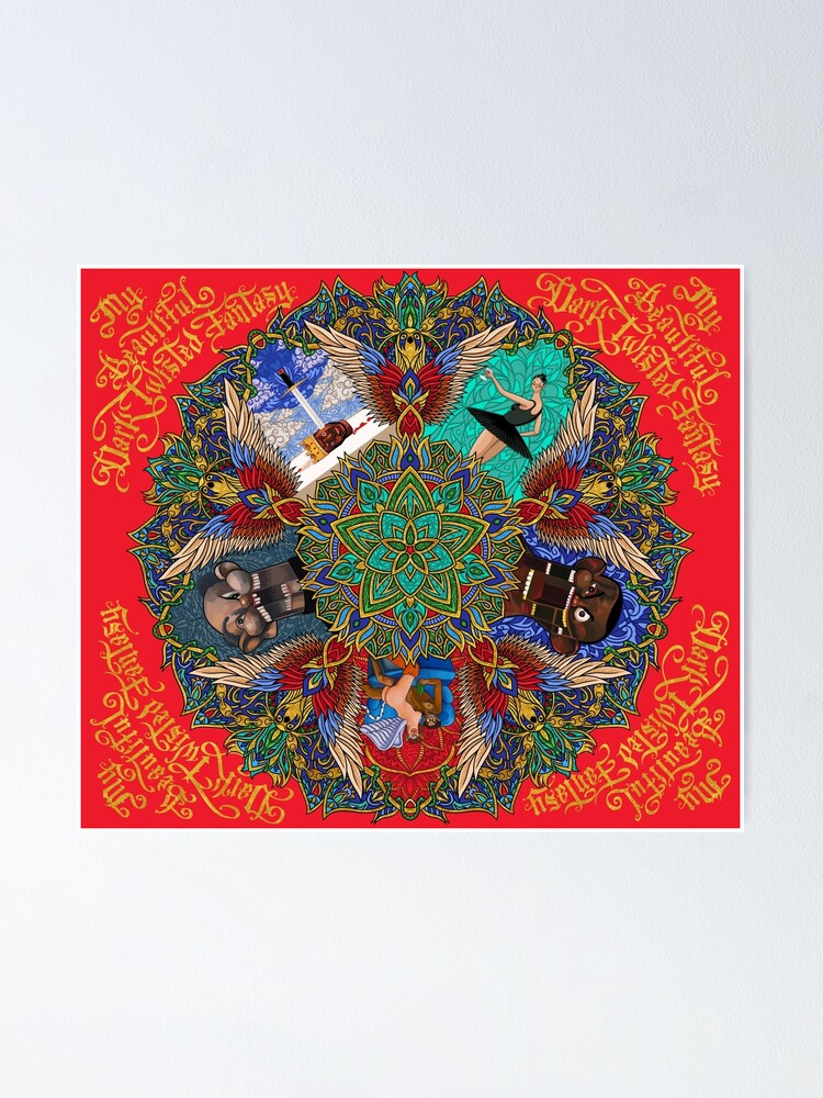 Alternate view of My Beautiful Dark Twisted Fantasy Mandala Poster
