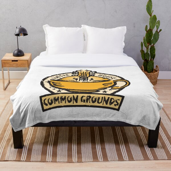 Common Grounds Coffee House Throw Blanket