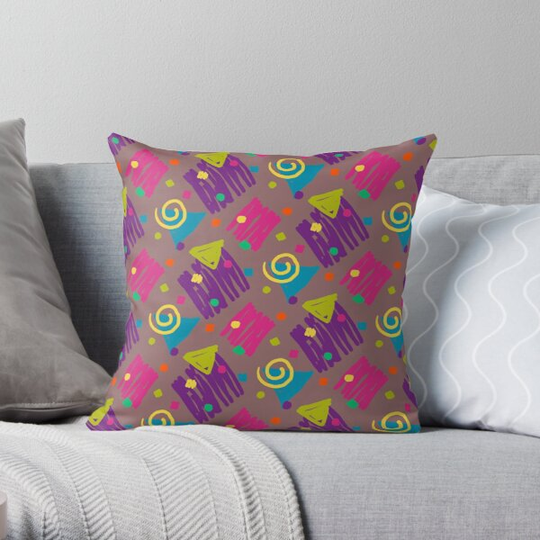 Party Doodles Pattern Throw Pillow