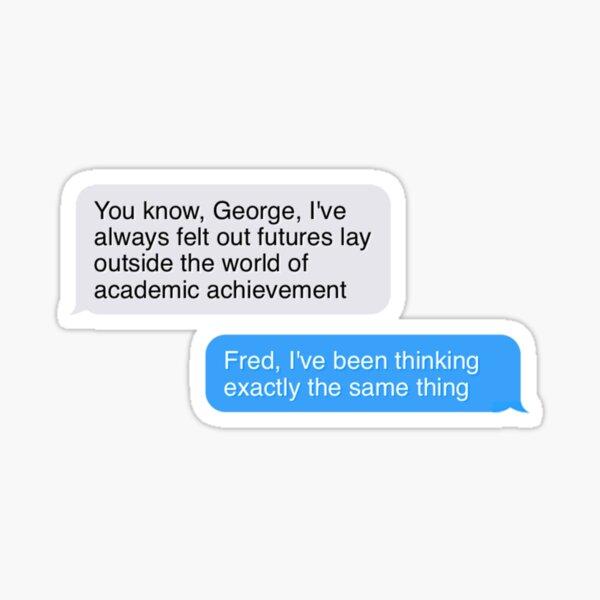 cita de Fred y George Pegatina