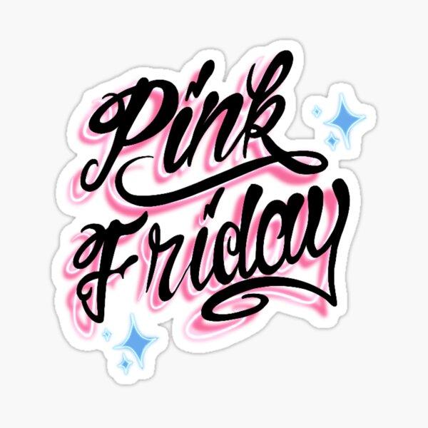 Nicki Minaj, Chun-Li, pink Friday, pink print, feeling myself, Illustration, female figure, silhouette, 90s, 00s nostalgia  Sticker