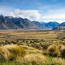 Rangitata Valley, New Zealand by Kathy Reid