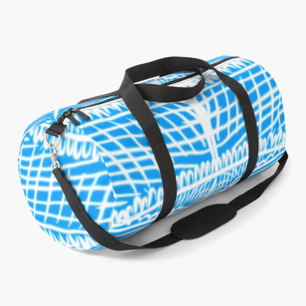 Lacey blue pattern  Duffle Bag