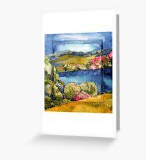 Ireland in spring silk painting Greeting Card