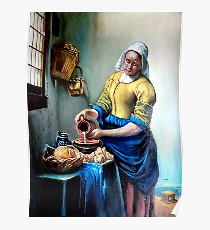 The Milkmaid after Johannes Vermeer Poster