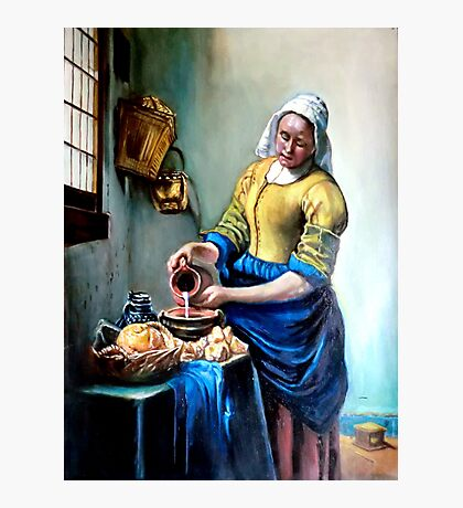 The Milkmaid after Johannes Vermeer Photographic Print