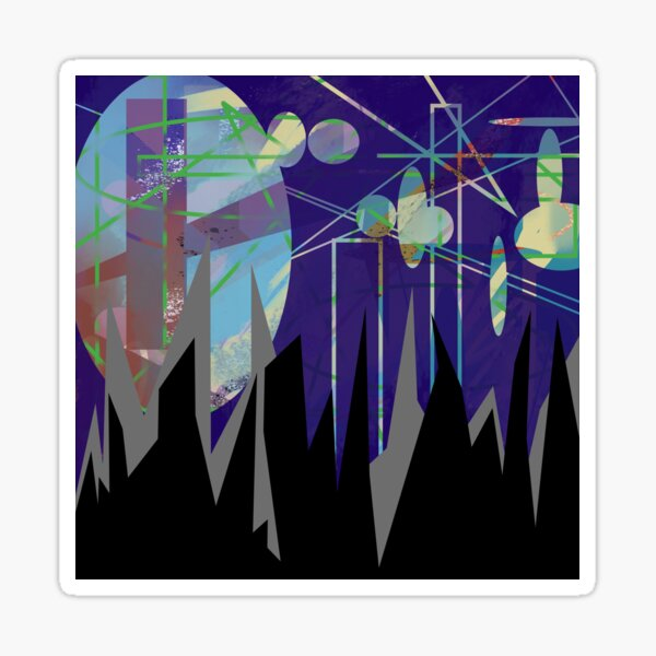 Mountain Top Abstract Sticker