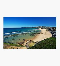 Crystal clear day at Bar Beach Photographic Print