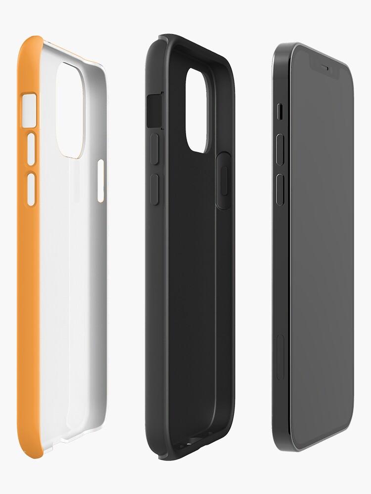 Alternate view of SJAC Pattern Orange iPhone Case & Cover