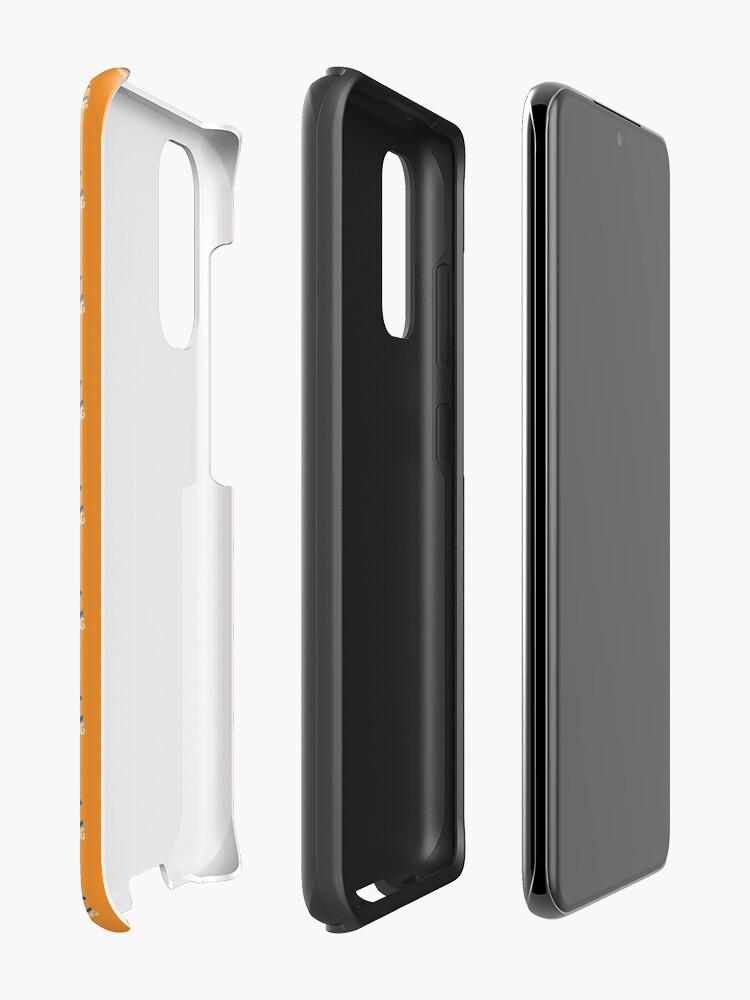 Alternate view of SJAC Pattern Orange Case & Skin for Samsung Galaxy