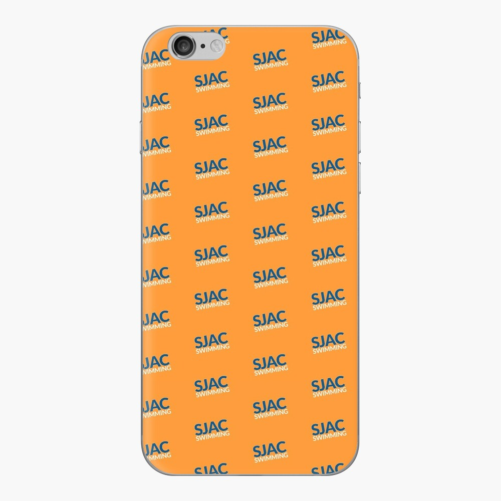 SJAC Pattern Orange iPhone Skin