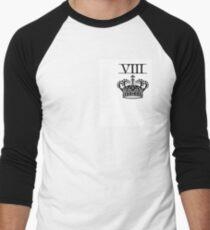 CROWN BITCH / WHITE Men's Baseball ¾ T-Shirt