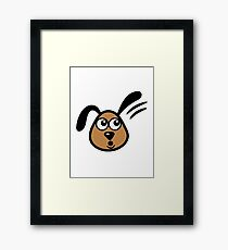 sweet funny watch dog Framed Print