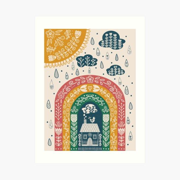 Folk Art Rainbow Art Print