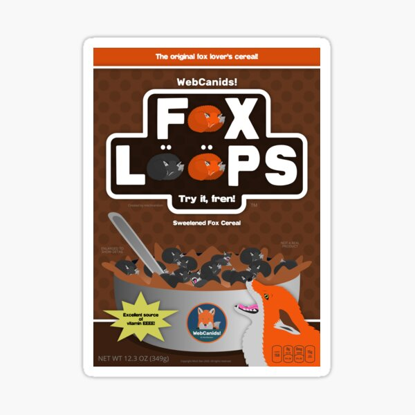 Fox Loops - Chocolate Sticker