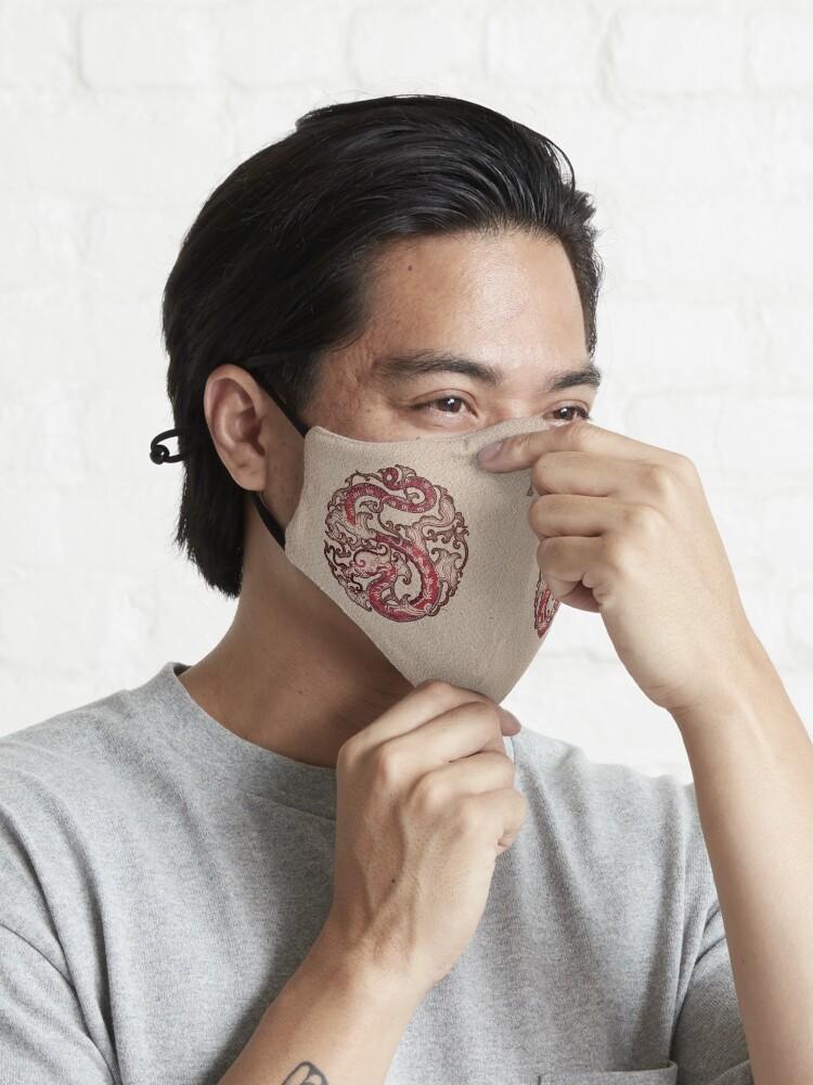 Alternate view of Double Dragon Wheel Seal 雙龍輪印 Mask