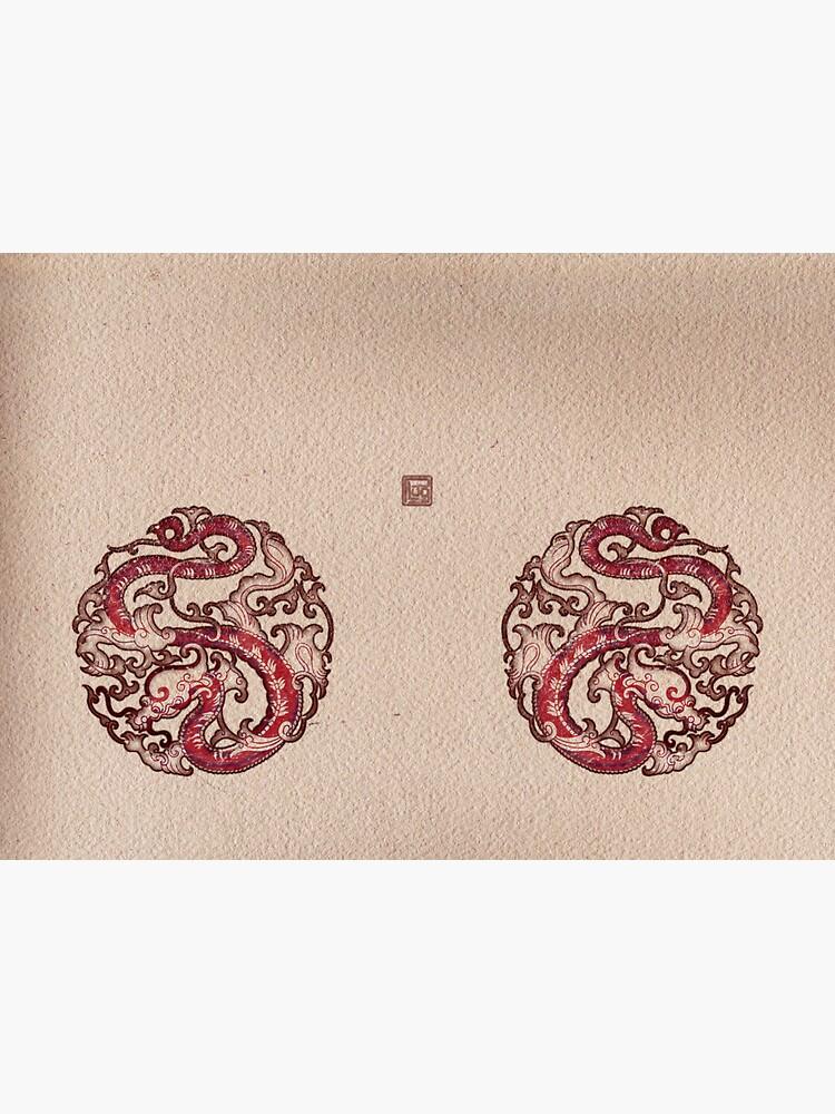Double Dragon Wheel Seal 雙龍輪印 by PLUGOarts