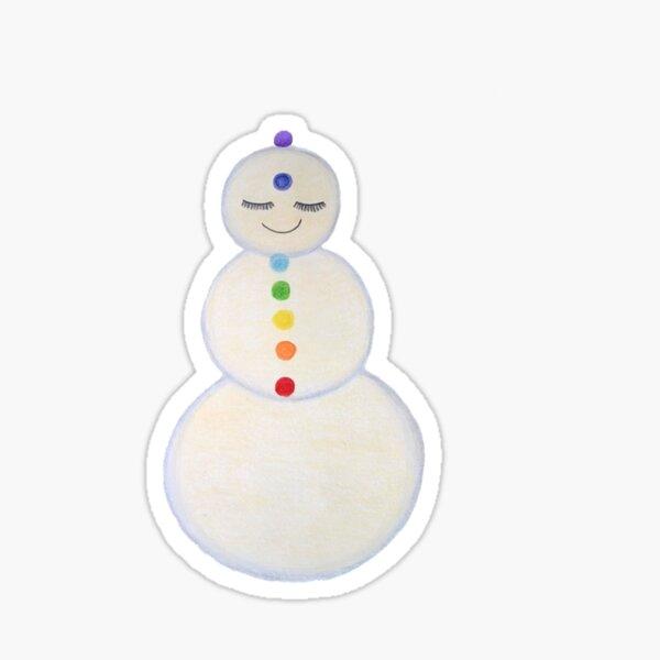 Chakra Snowman Sticker