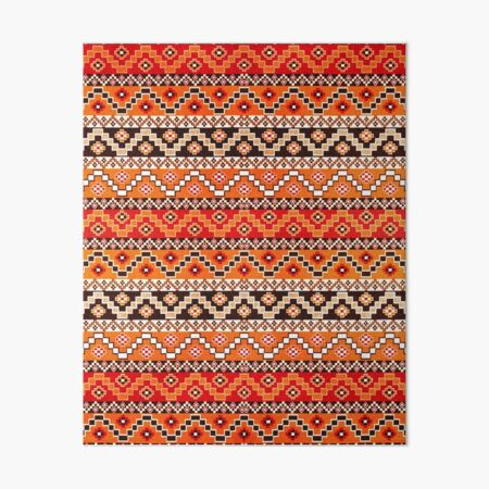 Orange Bohemian Hippie Traditional Moroccan Style Pattern  Art Board Print