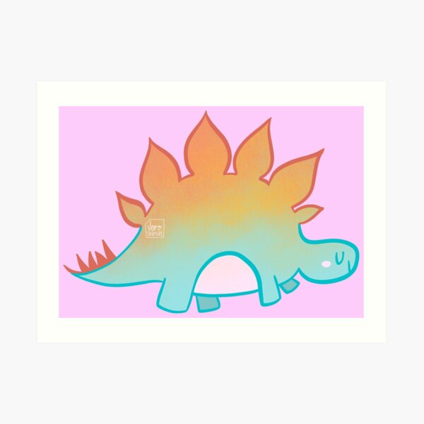 Dino - Stegosaurus Art Print