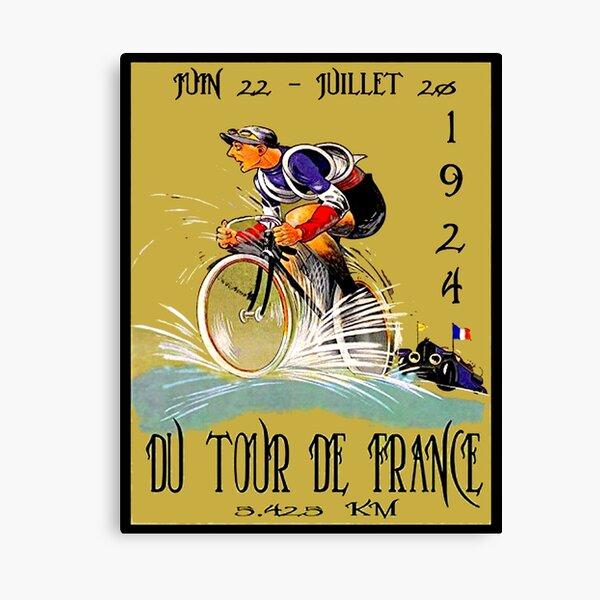 "Impresión de carrera ciclista vintage ""TOUR DE FRANCE"" Lienzo"