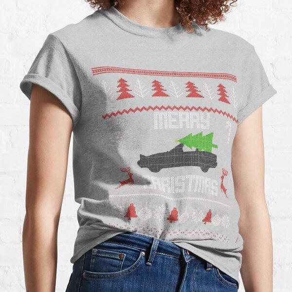NA Miata MX-5 Red on Green Ugly Christmas Sweater Print Classic T-Shirt