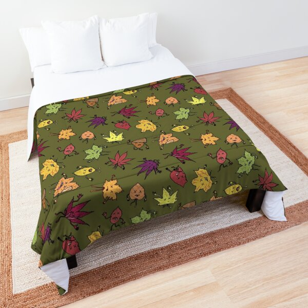 A beautiful dead leaf pattern for Autumn Comforter
