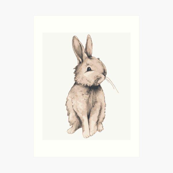 Ruby Rabbit Art Print