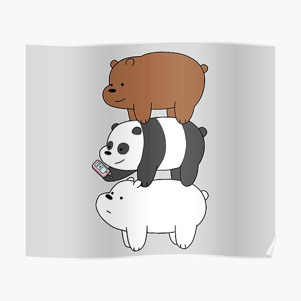 We Bare Bears™ Grizzly, Panda, and Ice bear Poster