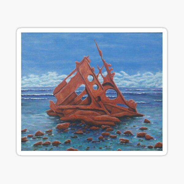 Shipwreck, Phillip Island Sticker