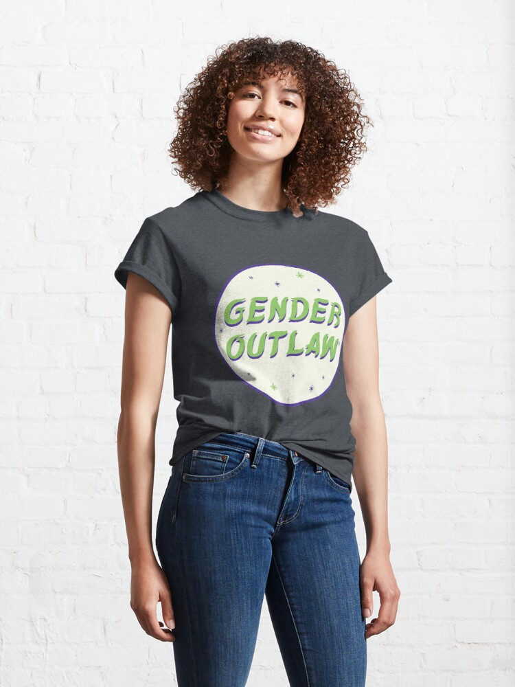 Alternate view of gender outlaw Classic T-Shirt