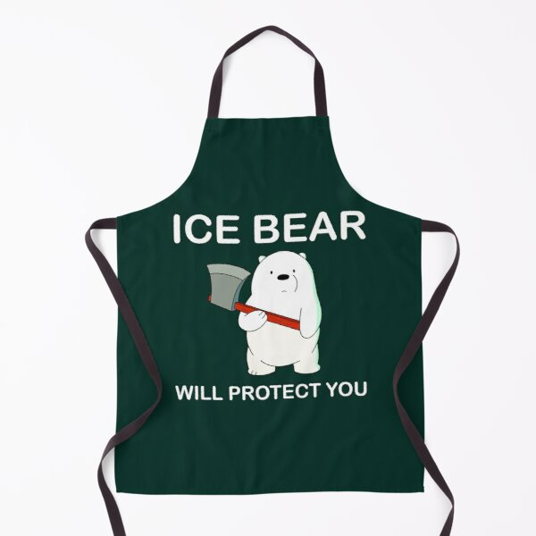 We Bare Bears™ Ice Bear will protect you Apron