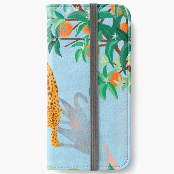 Leopard and Orange Trees iPhone Wallet