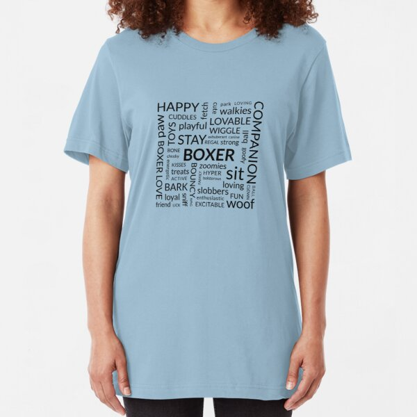 Words that describe a boxer... Slim Fit T-Shirt