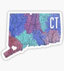 Connecticut- Blue Sticker