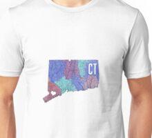 Connecticut- Blue Unisex T-Shirt