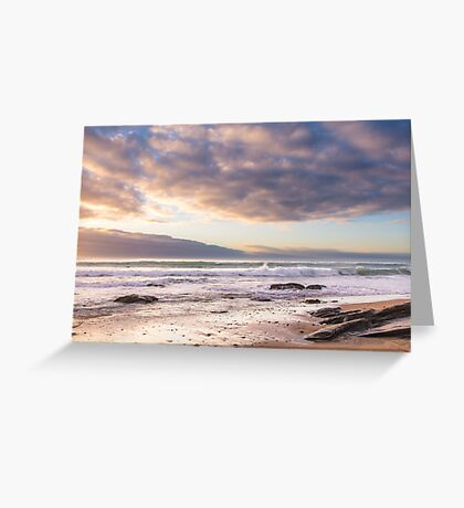 Golden hour at Watergate Bay, Cornwall, UK Greeting Card
