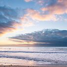 Last of the light at Watergate Bay, Cornwall, UK by Zoe Power
