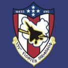 131st Fighter Squadron Emblem ( F-15 ) by warbirdwear