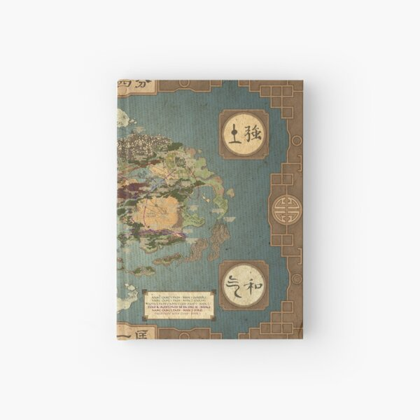 Avatar the Last Airbender Map Hardcover Journal