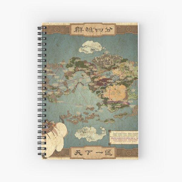 Avatar the Last Airbender Map Spiral Notebook